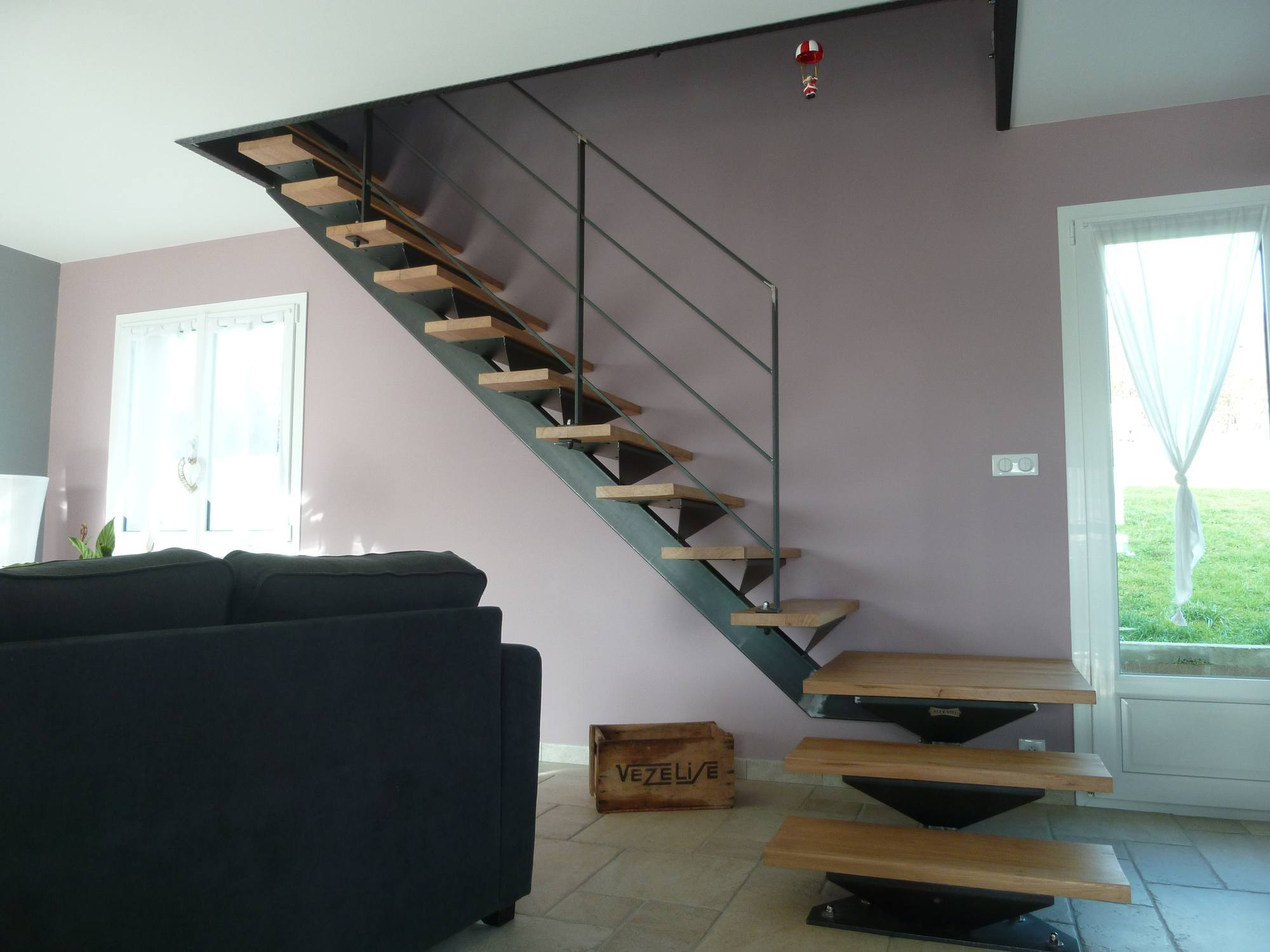 Escalier Acier Brut escalier en acier brut, effet industriel   alex viel
