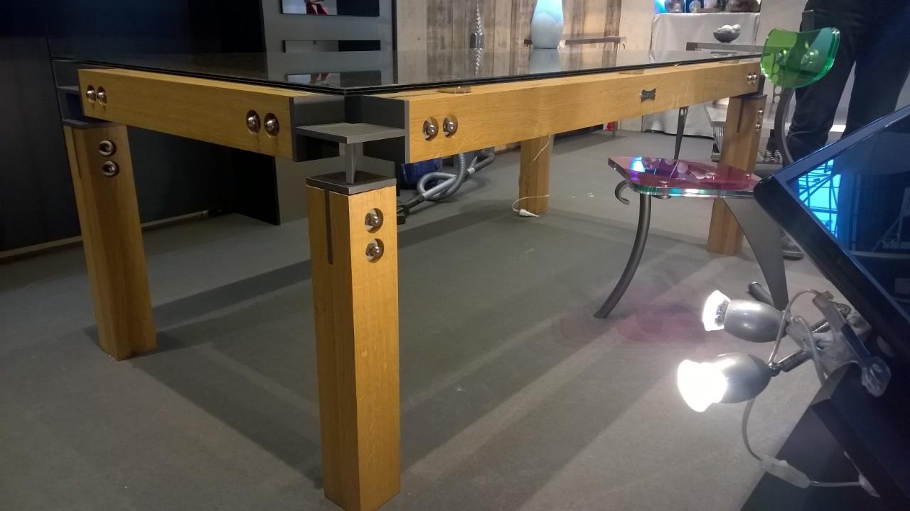 Tables Bureaux Alex Viel # Meuble Acier Et Bois